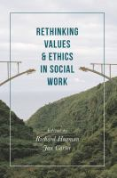 new book, title: Rethinking values and ethics in social work / edited by Richard Hugman and Jan Carter.