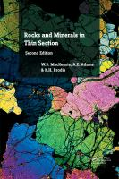 new book, title: Rocks and Minerals in Thin Section, Second Edition [electronic resource] : A Colour Atlas / Mackenzie, W.S.