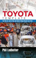new book, title: The Toyota template [electronic resource] : the plan for just-in-time and culture change beyond lean tools / by Phil Ledbetter.