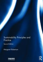 new book, title: Sustainability principles and practice [electronic resource] / Margaret Robertson.