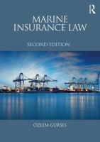 new book, title: Marine insurance law [electronic resource] / Özlem Gürses.