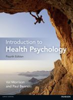 new book, title: An introduction to health psychology / Val Morrison and Paul Bennett.