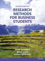 new book, title: Research methods for business students [electronic resource] / Mark Saunders, Philip Lewis, Adrian Thornhill.