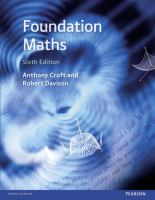 new book, title: Foundation maths / Anthony Croft, Robert Davison.