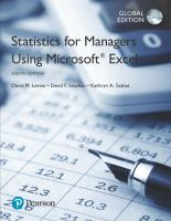 new book, title: Statistics for managers using Microsoft Excel / David M. Levine, David F. Stephan, Kathryn A. Szabat.