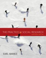 new book, title: The practice of social research [electronic resource] / Earl Babbie, Chapman University.
