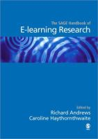 new book, title: The Sage handbook of e-learning research [electronic resource] / edited by Richard Andrews, Caroline Haythornthwaite.