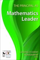 new book, title: The principal as mathematics leader.