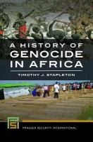new book, title: A history of genocide in Africa [electronic resource] / Timothy J. Stapleton.