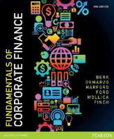 new book, title: Fundamentals of Corporate Finance eBook [electronic resource] / Berk, Jonathon.