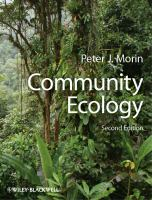 new book, title: Community ecology / Peter J. Morin.