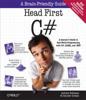 new book, title: Head first C# / Andrew Stellman, Jennifer Greene.
