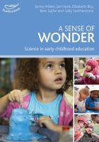new book, title: A sense of wonder : science in early childhood education / Jenny Aitken, Jan Hunt, Elizabeth Roy, Bess Sajfar and Sally Featherstone.