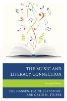 new book, title: The music and literacy connection [electronic resource] / Dee Hansen, Elaine Bernstorf, and Gayle M. Stuber.