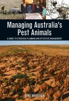 new book, title: Managing Australia's Pest Animals [electronic resource]: A Guide to Strategic Planning and Effective Management