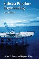 new book, title: Subsea pipeline engineering / Andrew C. Palmer and Roger A. King.
