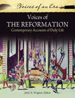 new book, title: Voices of the Reformation [electronic resource] : contemporary accounts of daily life / John A. Wagner, editor.