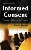 new book, title: Informed consent : procedures, ethics and best practices / Winston Hammond, editor.