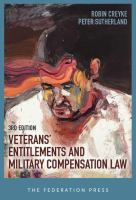new book, title: Veterans' entitlements and military compensation law / Robin Creyke, Peter Sutherland.
