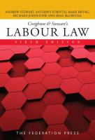 new book, title: Creighton & Stewart's labour law / Andrew Stewart, Anthony Forsyth, Mark Irving, Richard Johnstone and Shae McCrystal.