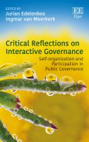 new book, title: Critical reflections on interactive governance [electronic resource] : self-organisation and participation in public governance / edited by Jurian Edelenbos, Ingmar van Meerkerk.
