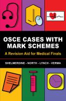 new book, title: OSCE cases with mark schemes.