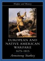 new book, title: European and Native American Warfare, 1675-1815 [electronic resource]