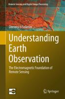 new book, title: Understanding Earth Observation [electronic resource] : The Electromagnetic Foundation of Remote Sensing / by Domenico Solimini.