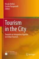 new book, title: Tourism in the City [electronic resource]: Towards an Integrative Agenda on Urban Tourism