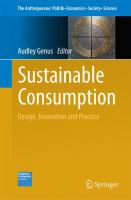 new book, title: Sustainable Consumption [electronic resource]: Design, Innovation and Practice