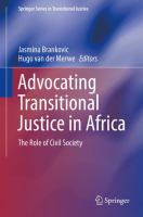 new book, title: Advocating Transitional Justice in Africa [electronic resource]: The Role of Civil Society