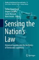 new book, title: Sensing the Nation's Law [electronic resource] / Huygebaert ... [et. al.].