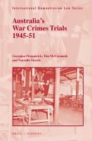 new book, title: Australia's War Crimes Trials 1945-51 / by Georgina Fitzpatrick, Tim McCormack, Narrelle Morris.