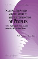 new book, title: National identities and the right to self-determination of peoples :