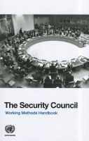 new book, title: The Security Council : working methods handbook.