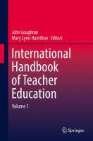 new book, title: International Handbook of Teacher Education [electronic resource]: Volume 1