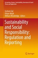 new book, title: Sustainability and Social Responsibility: Regulation and Reporting [electronic resource]