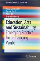 new book, title: Education, Arts and Sustainability [electronic resource] / Hunter ... [et. al.].
