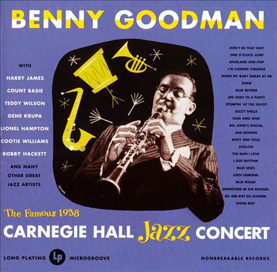 Cover image for Benny Goodman at Carnegie Hall, 1938