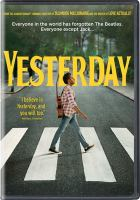 Yesterday (dvd cover)