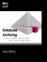 Database Archiving catalog link