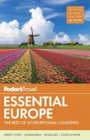 Fodor's Essential Europe by Fodor's Travel © 2017 (Added: 9/6/17)