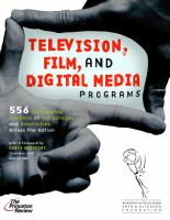 the cover of Television, Film, and Digital Media Programs