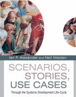 Scenarios, Stories, Use Cases catalog link