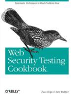 Web Security Testing Cookbook catalog link
