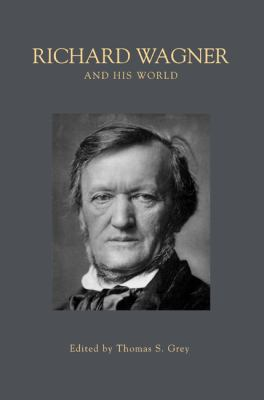 Gray book cover with a black and white photograph of Richard Wagner.