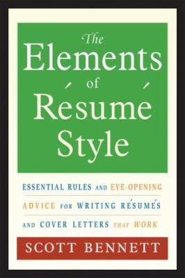 Book cover of The Elements of Resume Writing