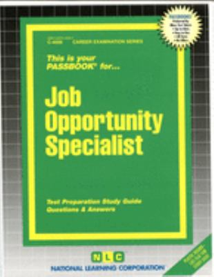 Cover image for This is your passbook for job opportunity specialist
