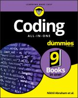 Coding All-in-one For Dummies by Abraham, Nikhil © 2017 (Added: 5/14/18)