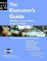 The Executor's Guide : Settling A Loved One's Estate Or Trust by Randolph, Mary © 2008 (Added: 5/14/18)